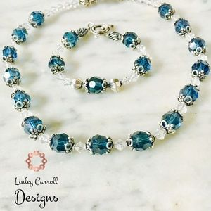 Jewelry - Swarovski Crystal Necklace & Bracelet Set
